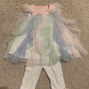 Nannette Baby Tulle Top and Matching Pants